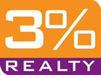 3% Realty, Simply Full Service Realty logo